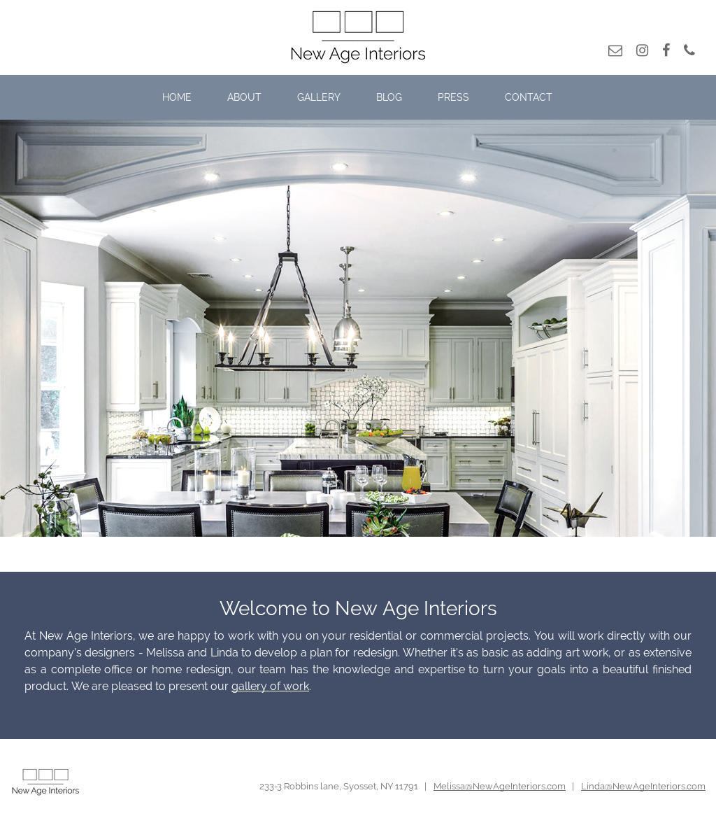 New Age Interiors Website History