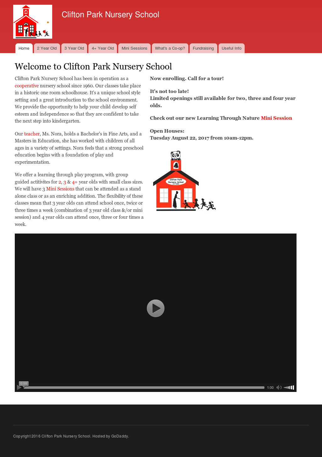 Clifton Park Nursery School Website History