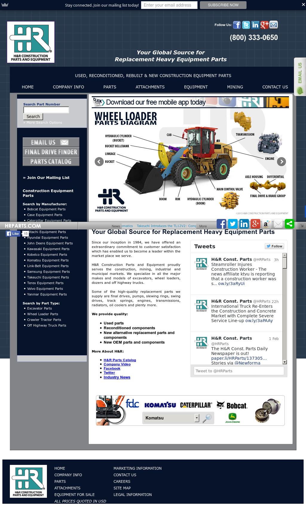 H & R Construction Parts Competitors, Revenue and Employees - Owler