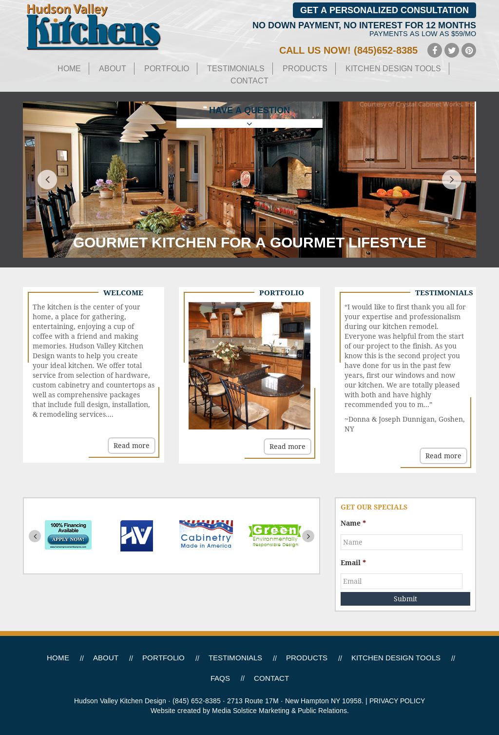 Hudson Valley Kitchen Design Website History