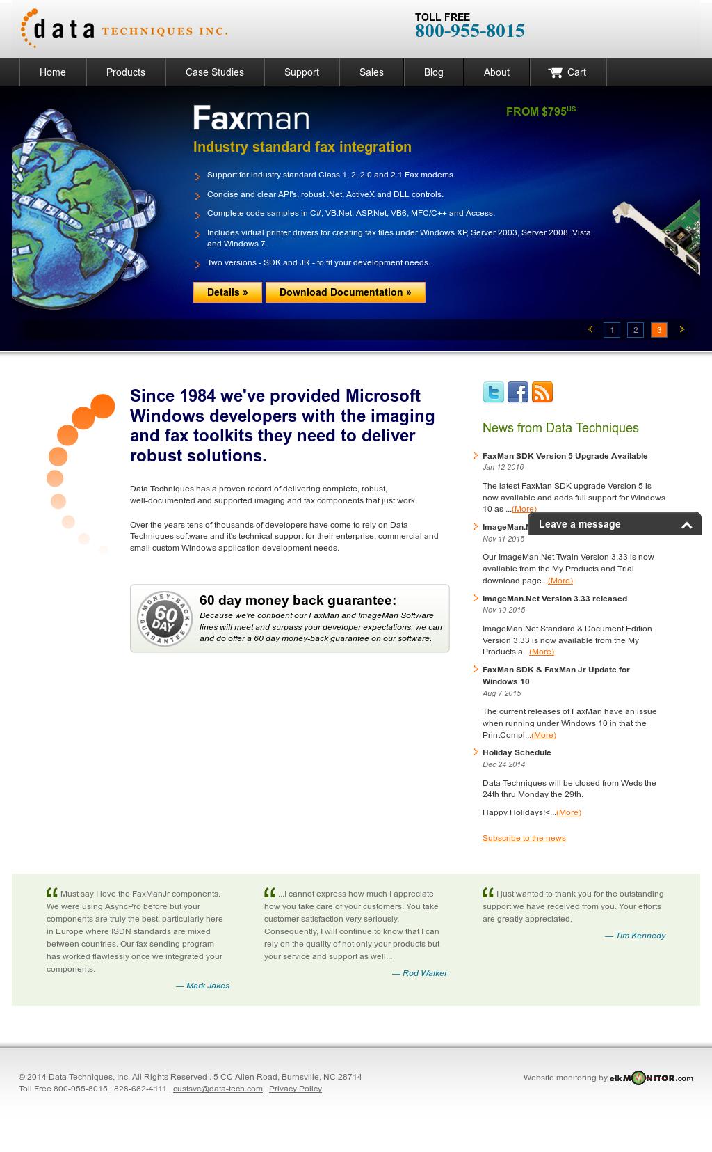 Owler Reports - Data Technique Blog FaxMan SDK Version 5