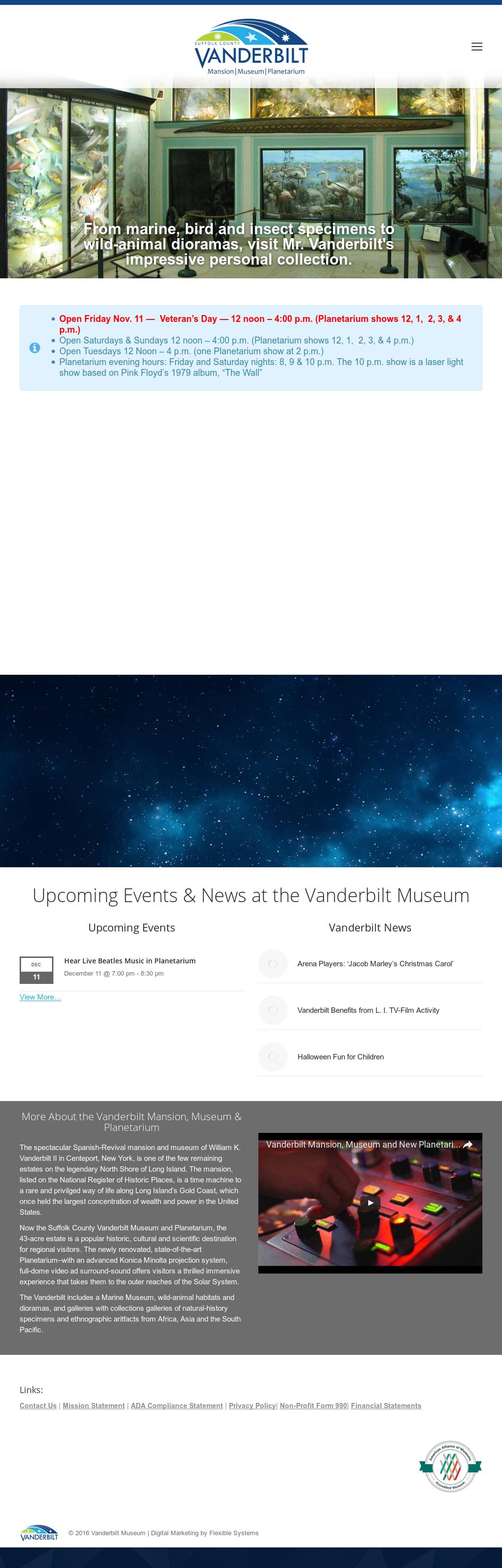 Vanderbilt Museum Competitors, Revenue and Employees - Owler