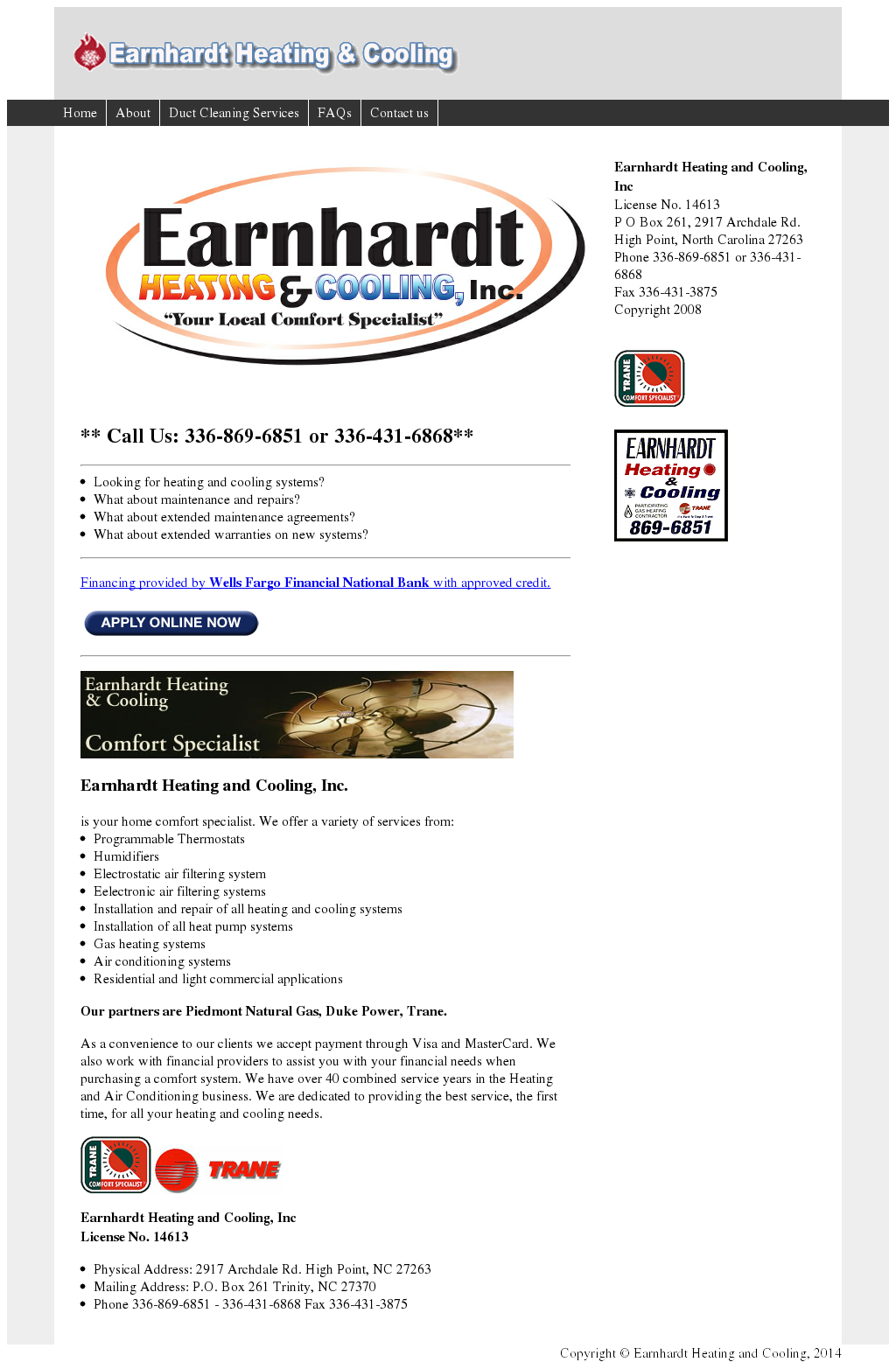 Earnhardt Heating Cooling Compeors Revenue And Employees Owler Company Profile