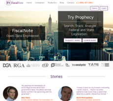 FiscalNote website history