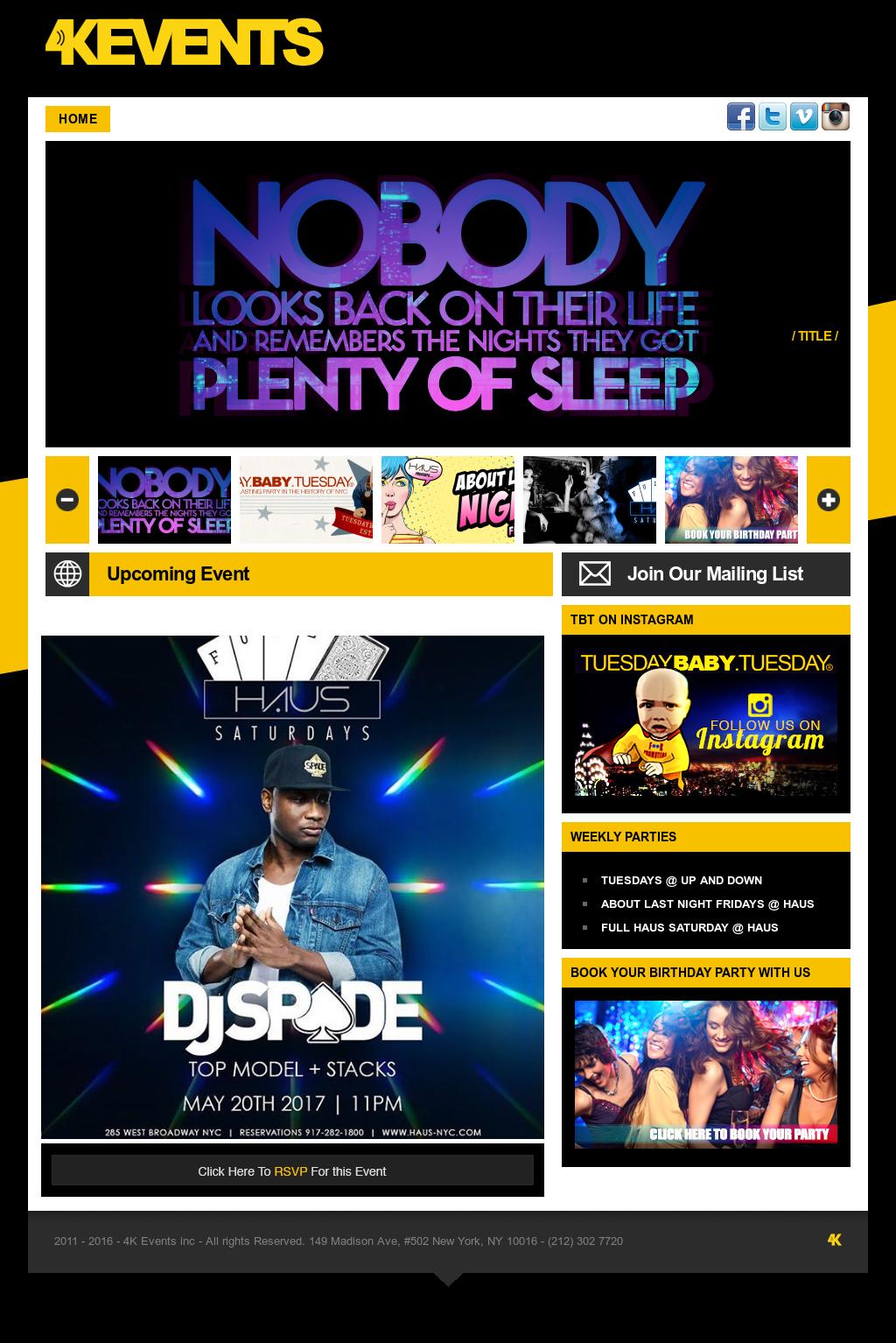 4K Entertainments Website Screenshot On May 2017