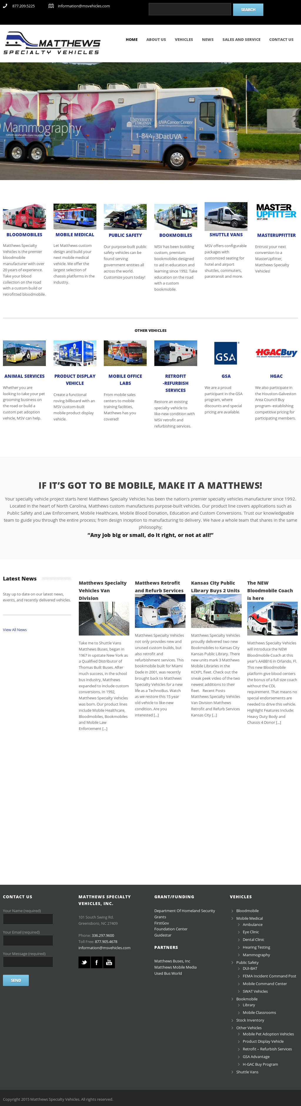 Matthews Specialty Vehicles Competitors, Revenue and