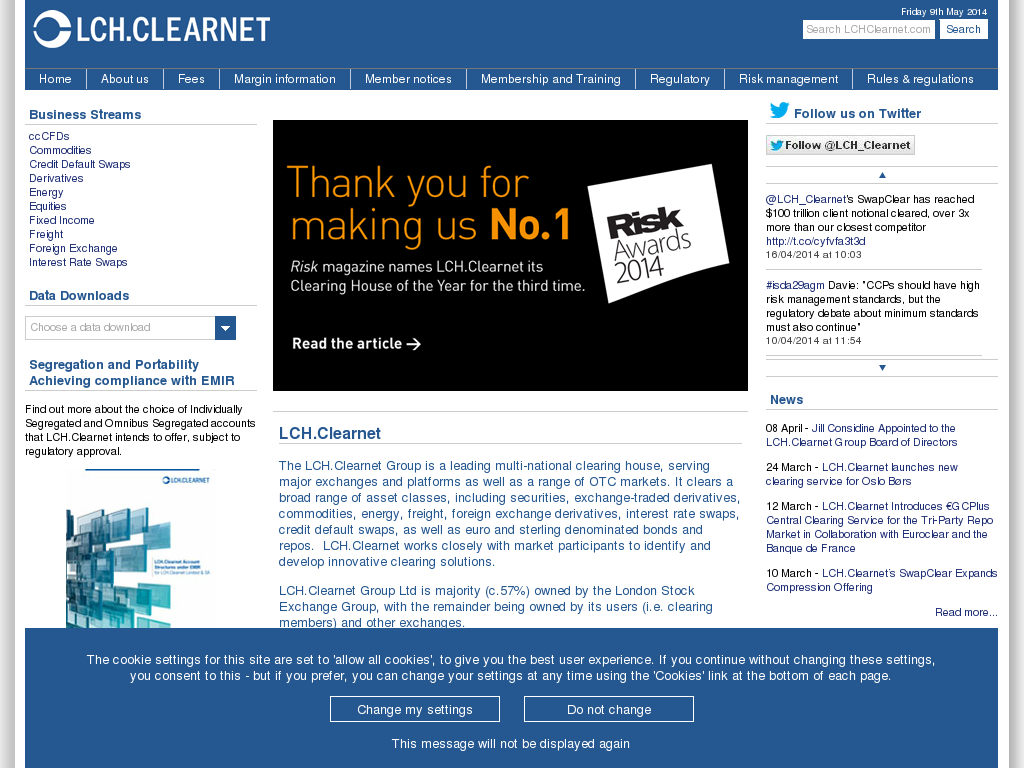 LCH Clearnet Competitors, Revenue and Employees - Owler Company Profile