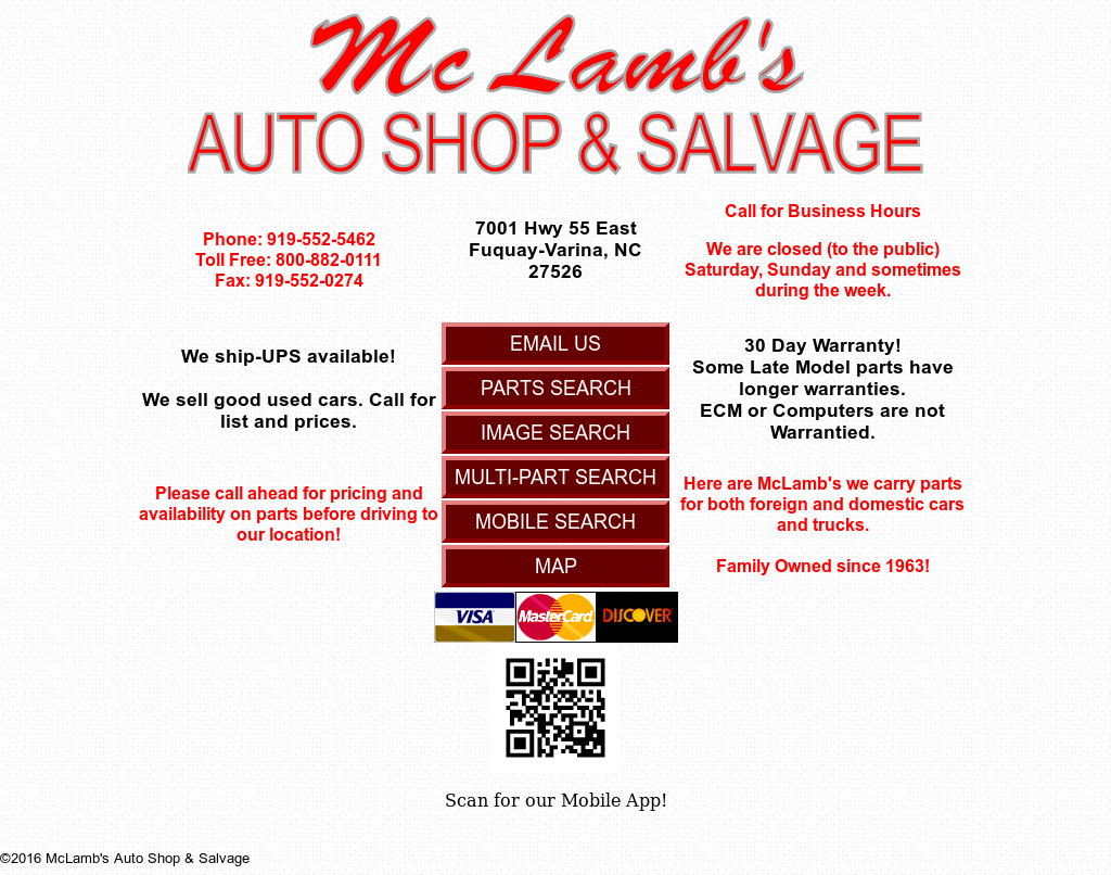 Oakboro Auto Group >> Mclambs Auto Shop And Salvage Competitors Revenue And