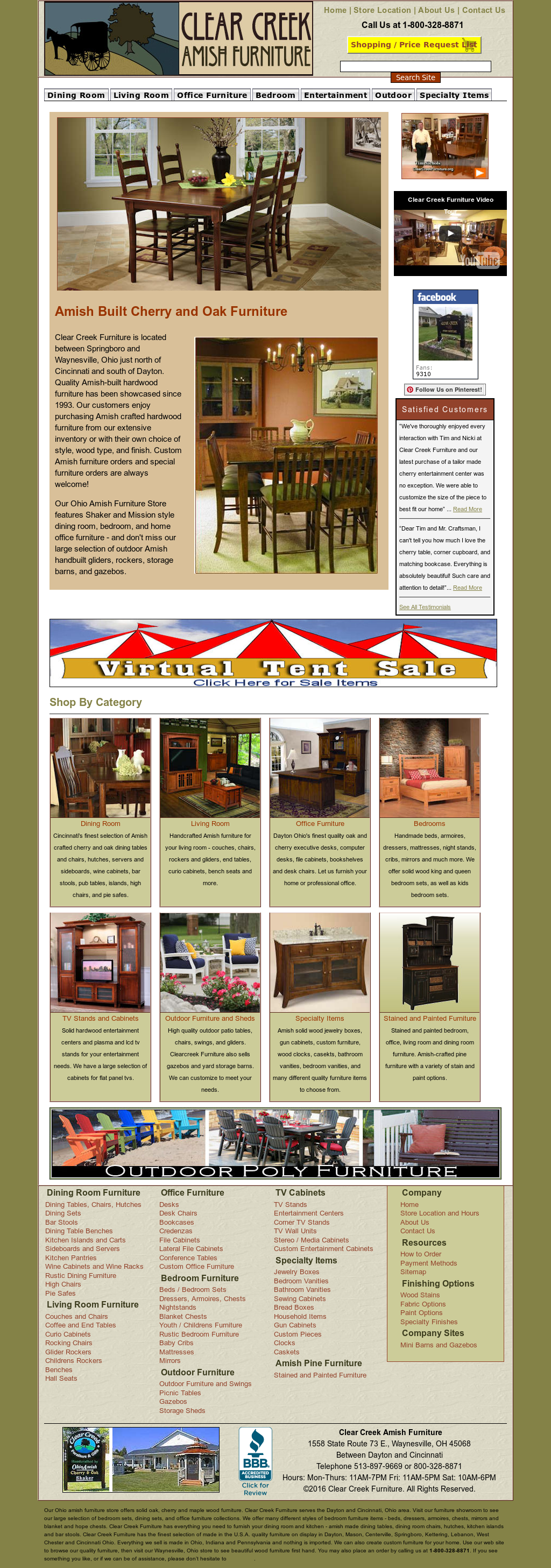 Clear Creek Furniture And Gifts Website History