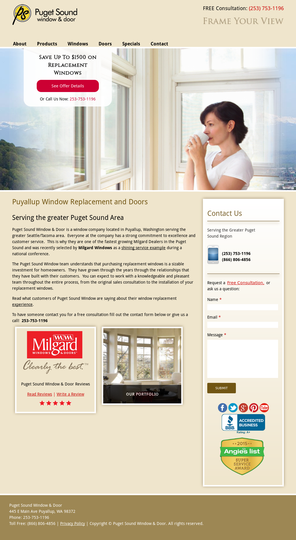 Puget Sound Window Door Compeors Revenue And Employees Owler Company Profile