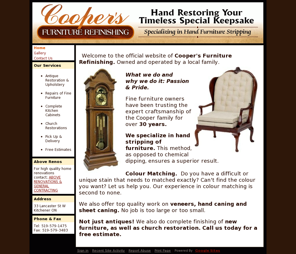 Coopers Furniture Refinishing Competitors Revenue And