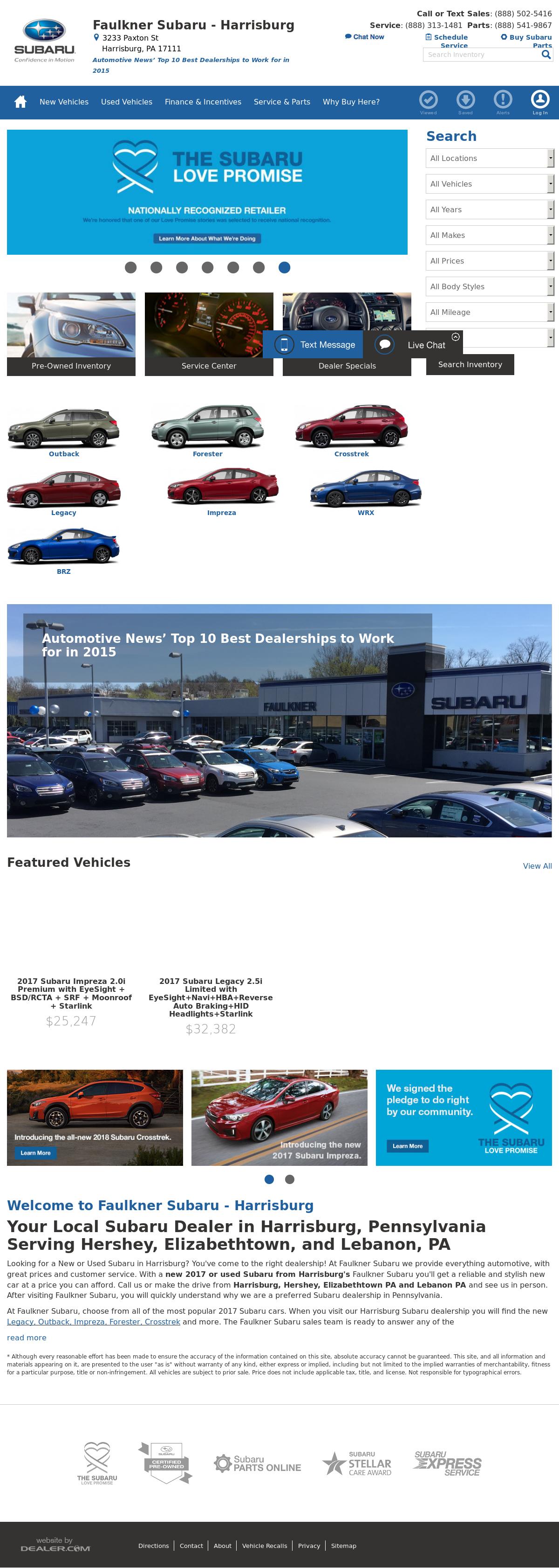 Faulkner Subaru petitors Revenue and Employees Owler pany