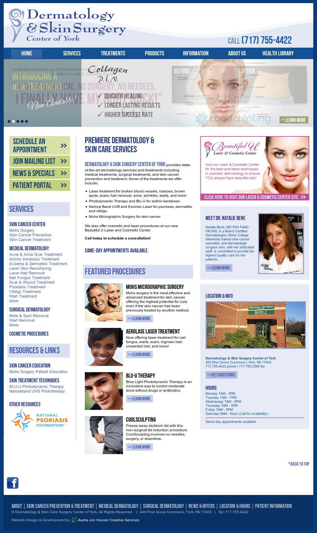 Dermatology & Skin Surgery Center of York Competitors
