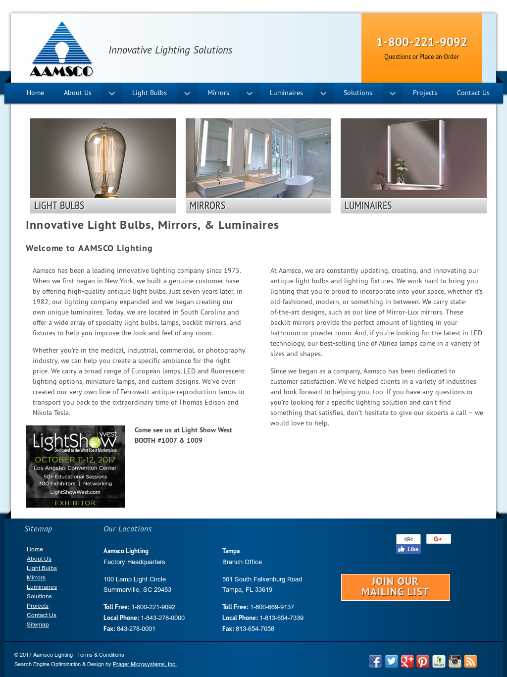 Aamsco Lighting Compeors Revenue And Employees Owler