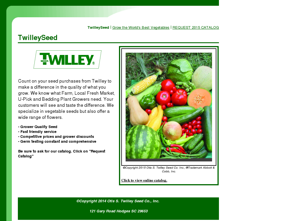 Twilley Seed Competitors, Revenue and Employees - Owler