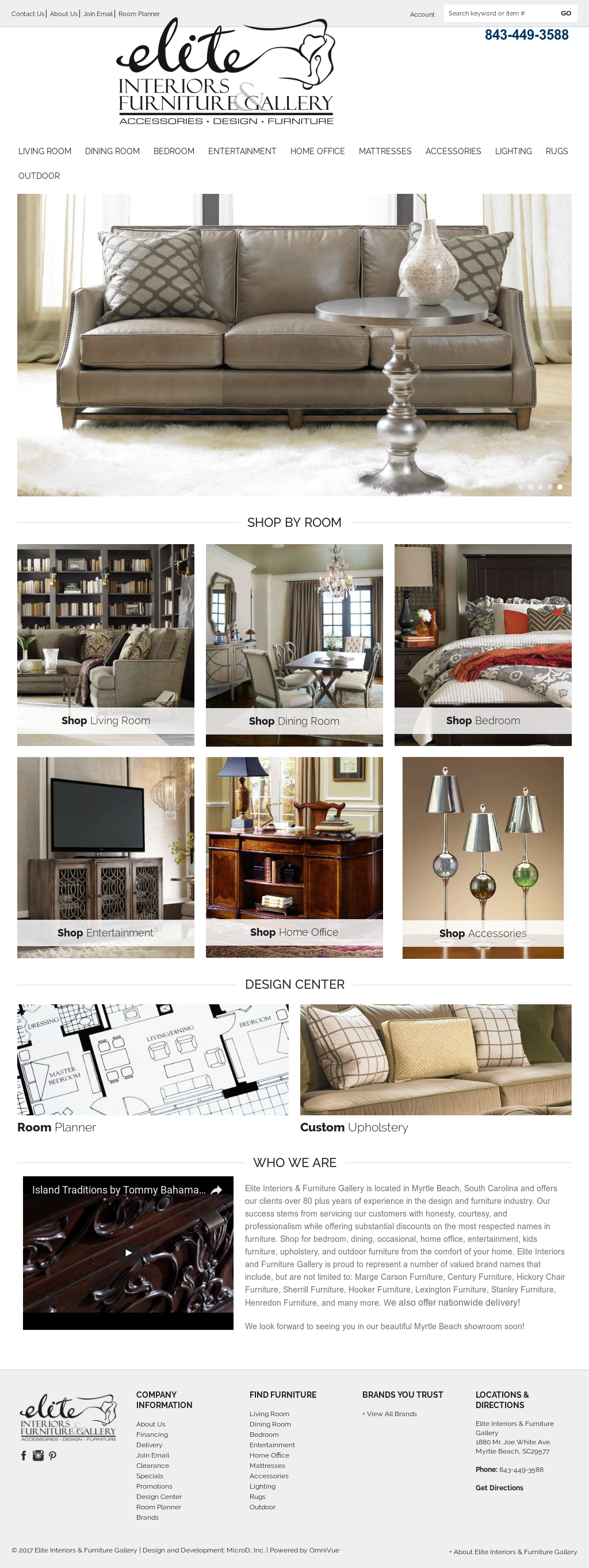 Elite Interiors U0026 Furniture Galleryu0027s Website Screenshot On ...