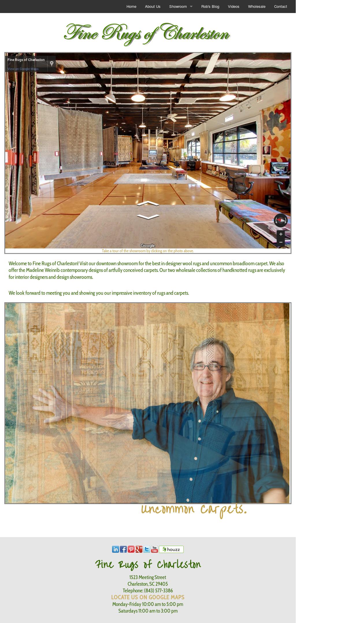 Fine Rugs Of Charleston Website History
