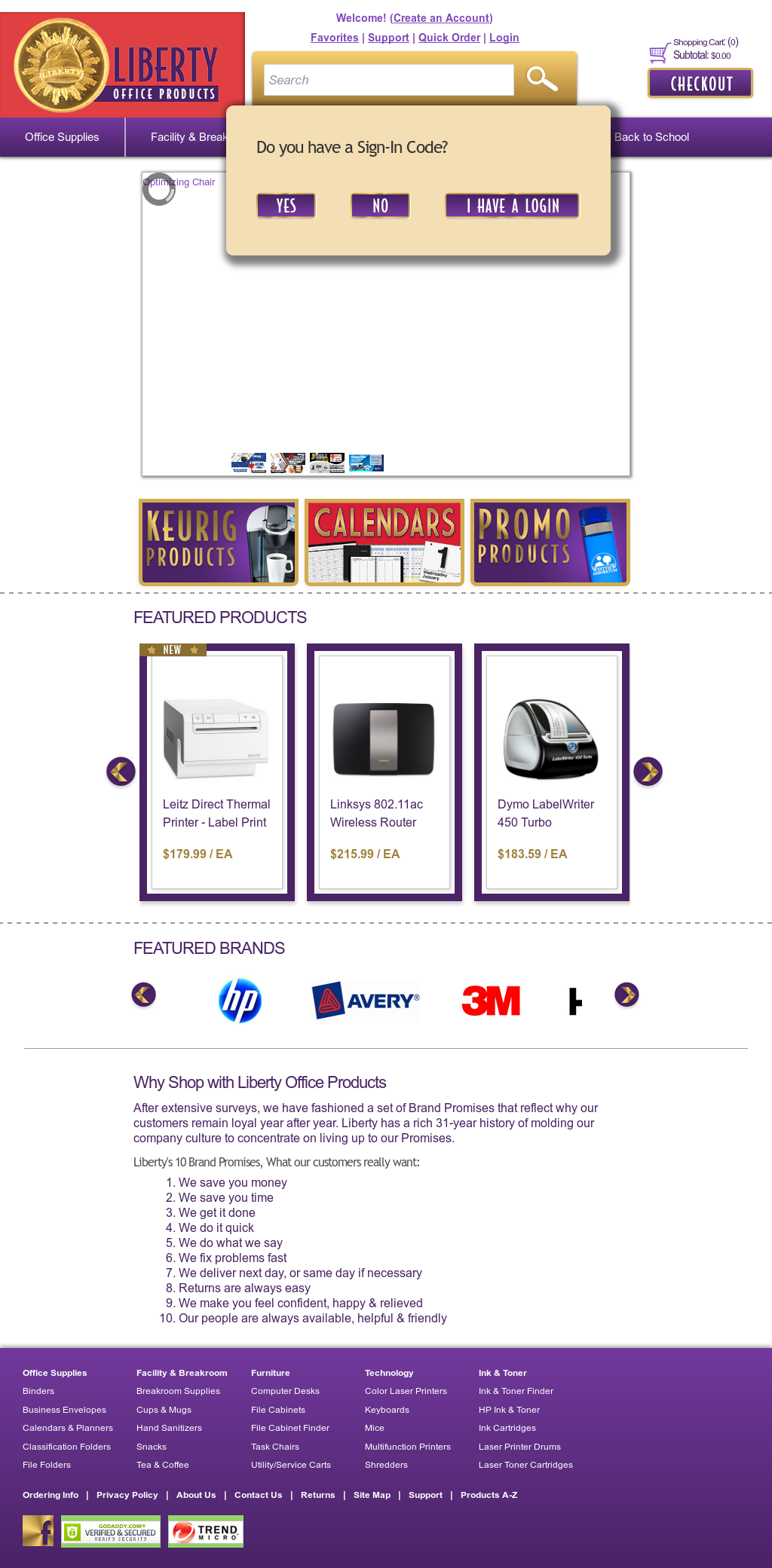 Liberty Office Products Website History