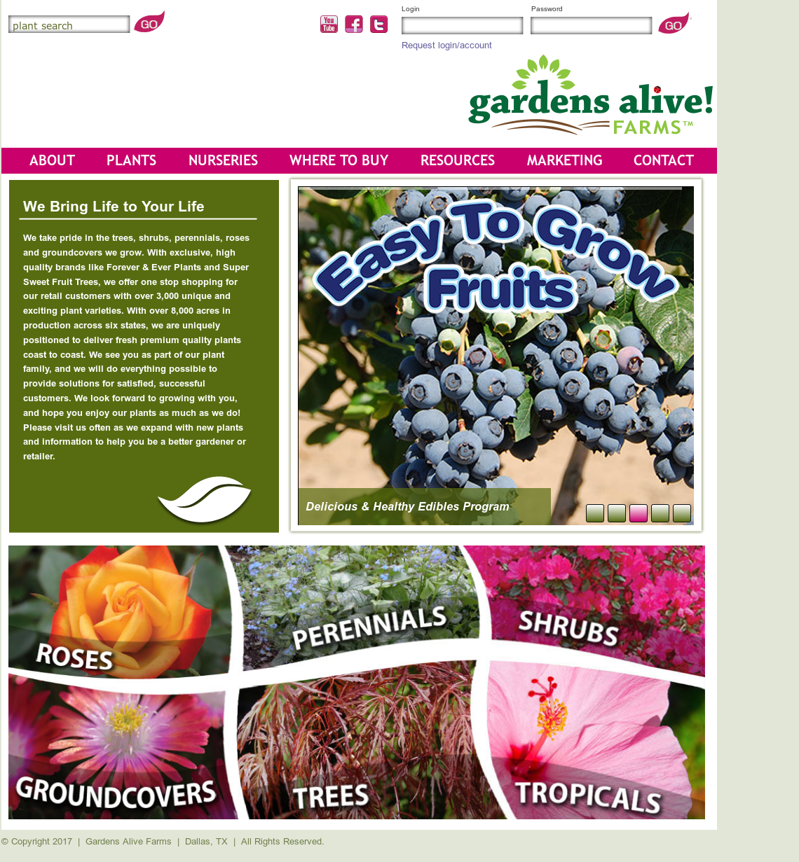The Berry Family Of Nurseries Website History