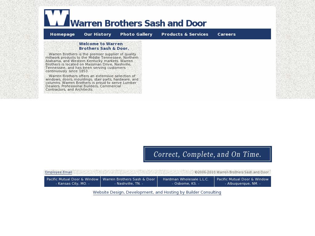 Warren Brothers Sash Door Compeors Revenue And Employees Owler Company Profile