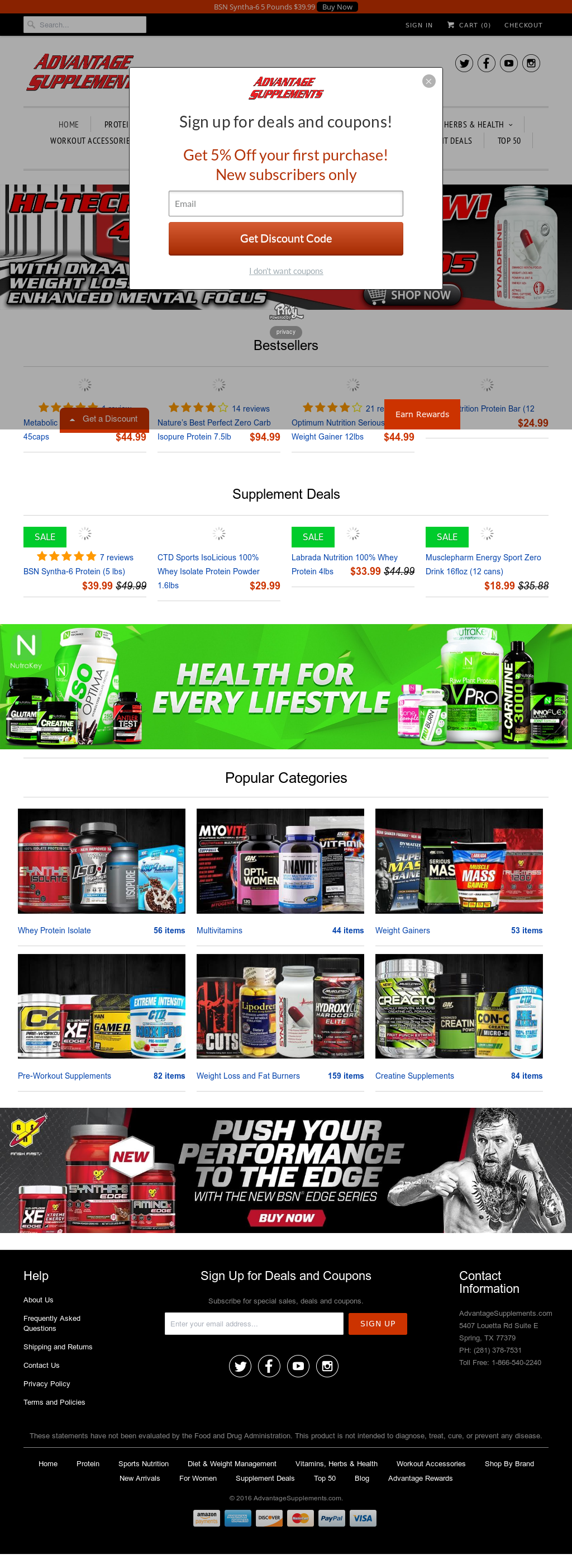 Advantagesupplements Competitors, Revenue and Employees
