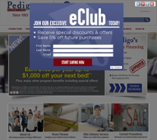 Pedigo Furniture Website History