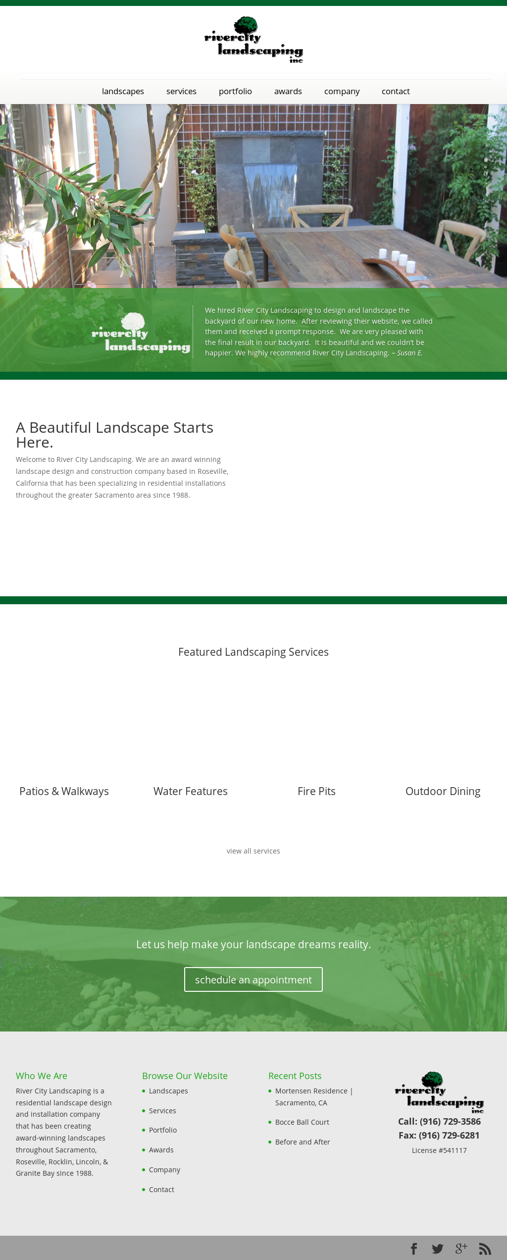 Website History - River City Landscaping Competitors, Revenue And Employees - Owler