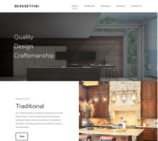 Benedettini Cabinets Website History