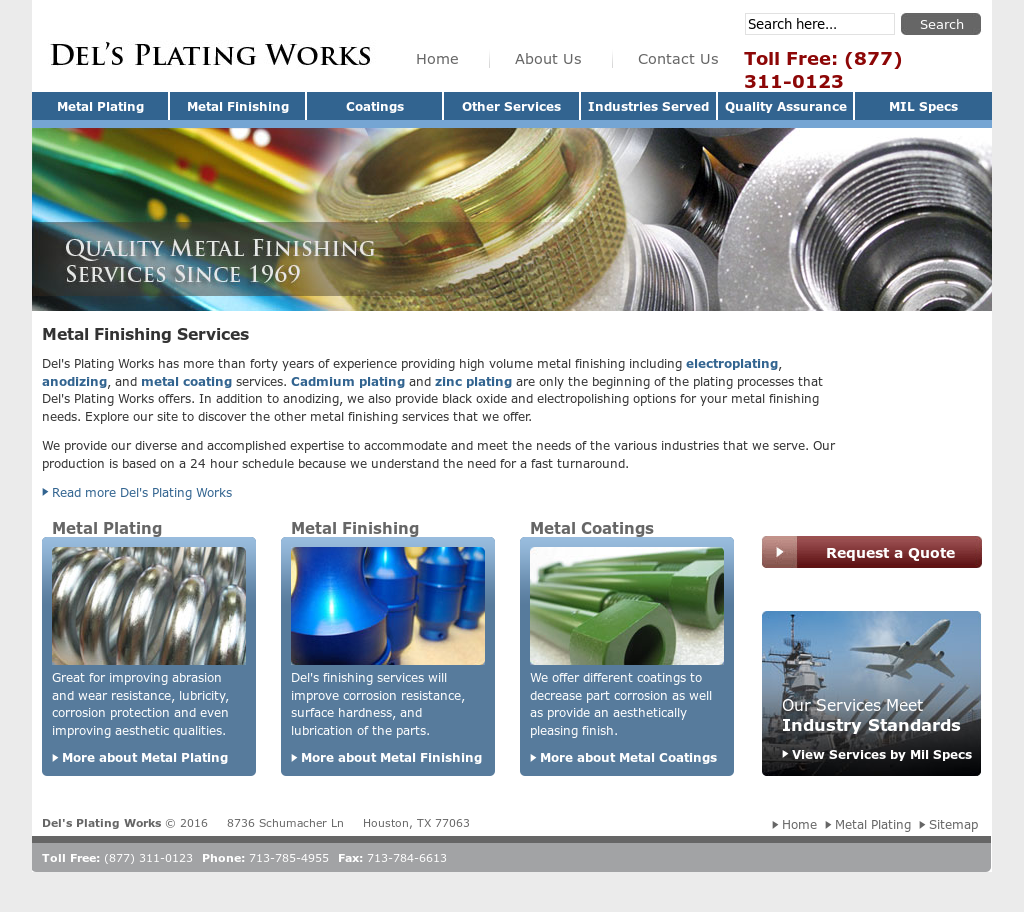 Del's Plating Works Competitors, Revenue and Employees
