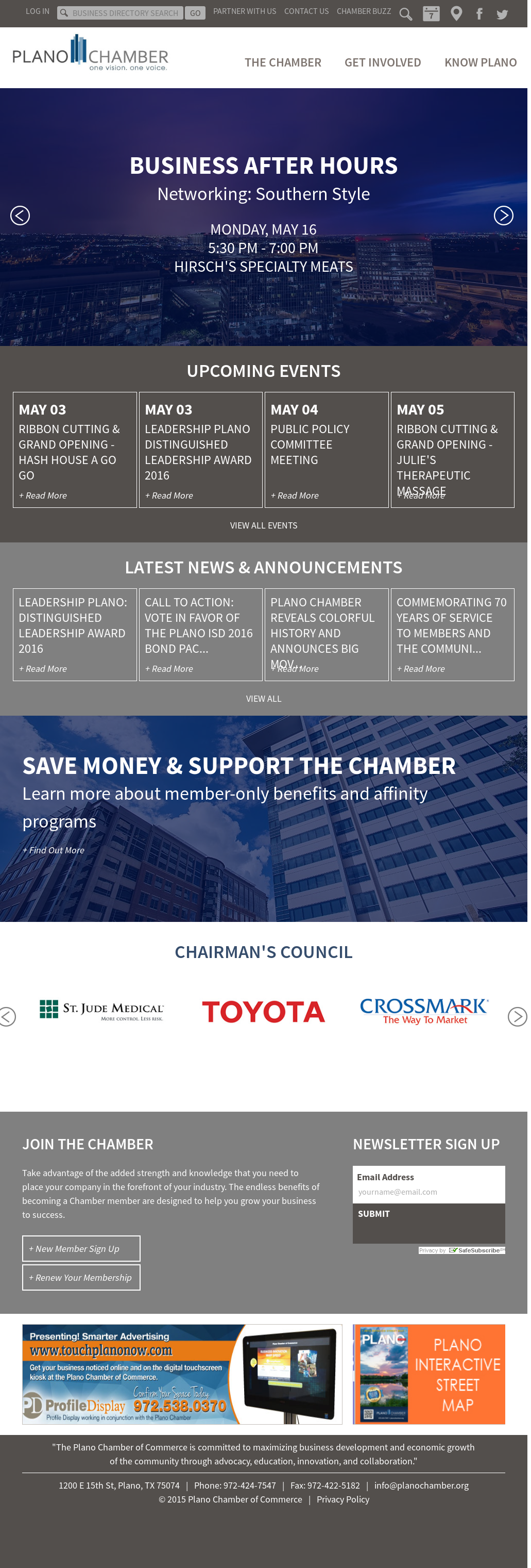 Plano Chamber of Commerce Competitors, Revenue and Employees