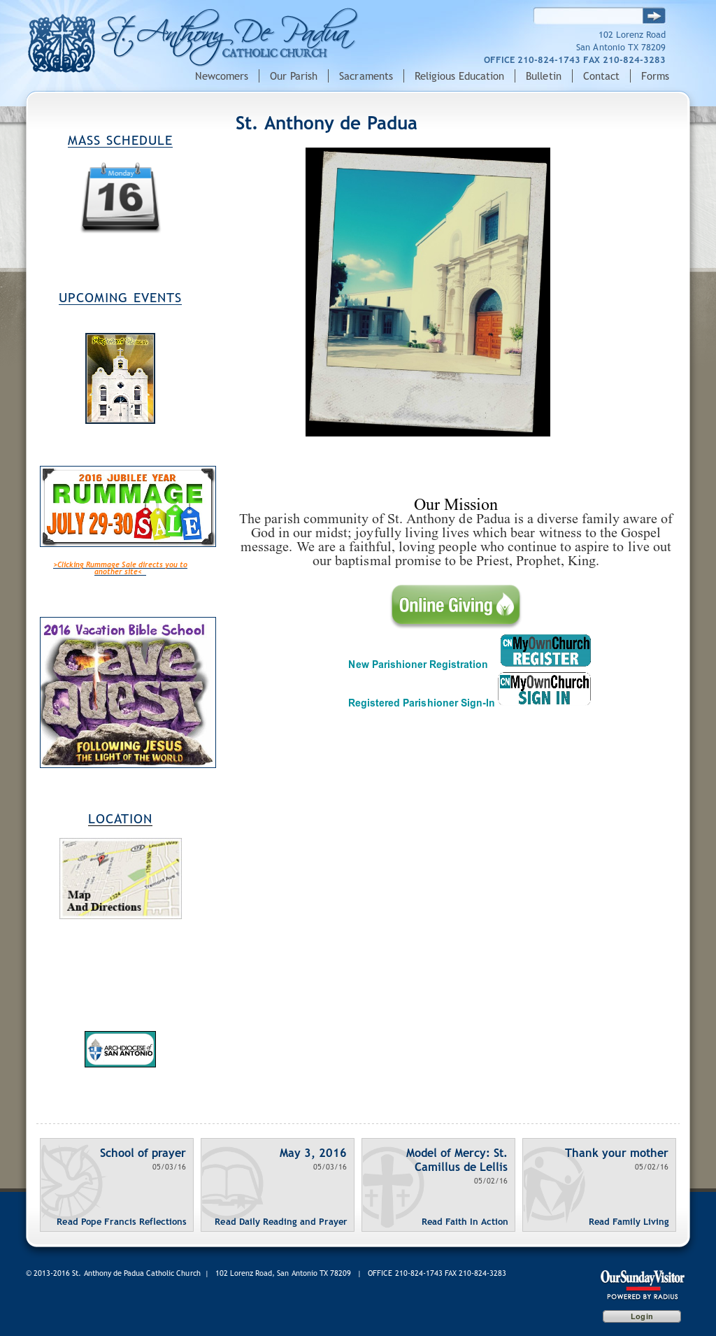 ST ANTHONY DE PADUA CHURCH Competitors, Revenue and