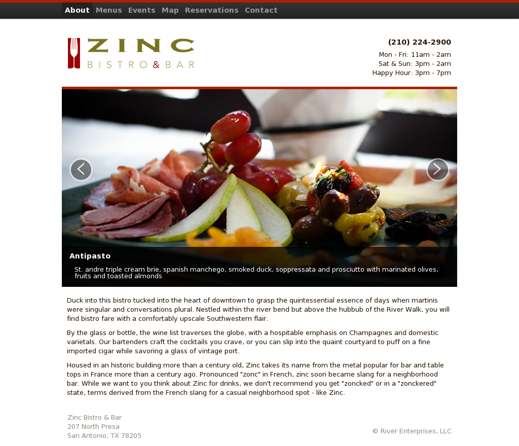Zinc Champagne & Wine Bar Competitors, Revenue and Employees