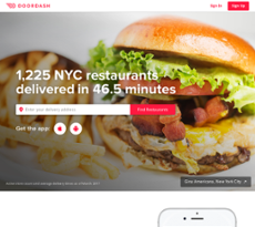 DoorDash website history
