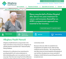 Allegheny Health Network Competitors, Revenue and Employees
