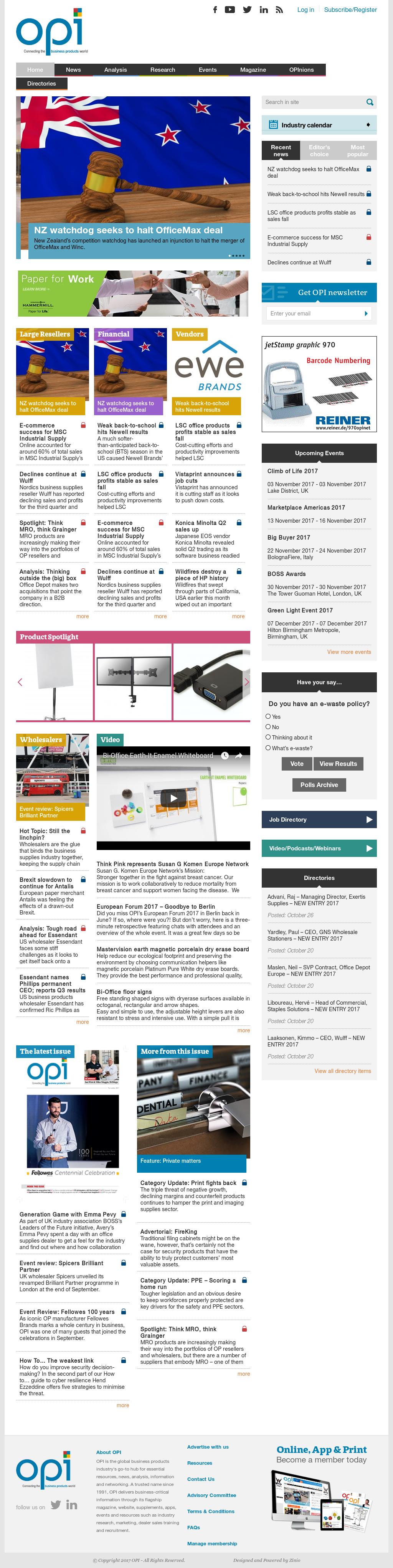 OFFICE PRODUCTS INTERNATIONAL LIMITEDu0027s Website Screenshot On Nov 2017