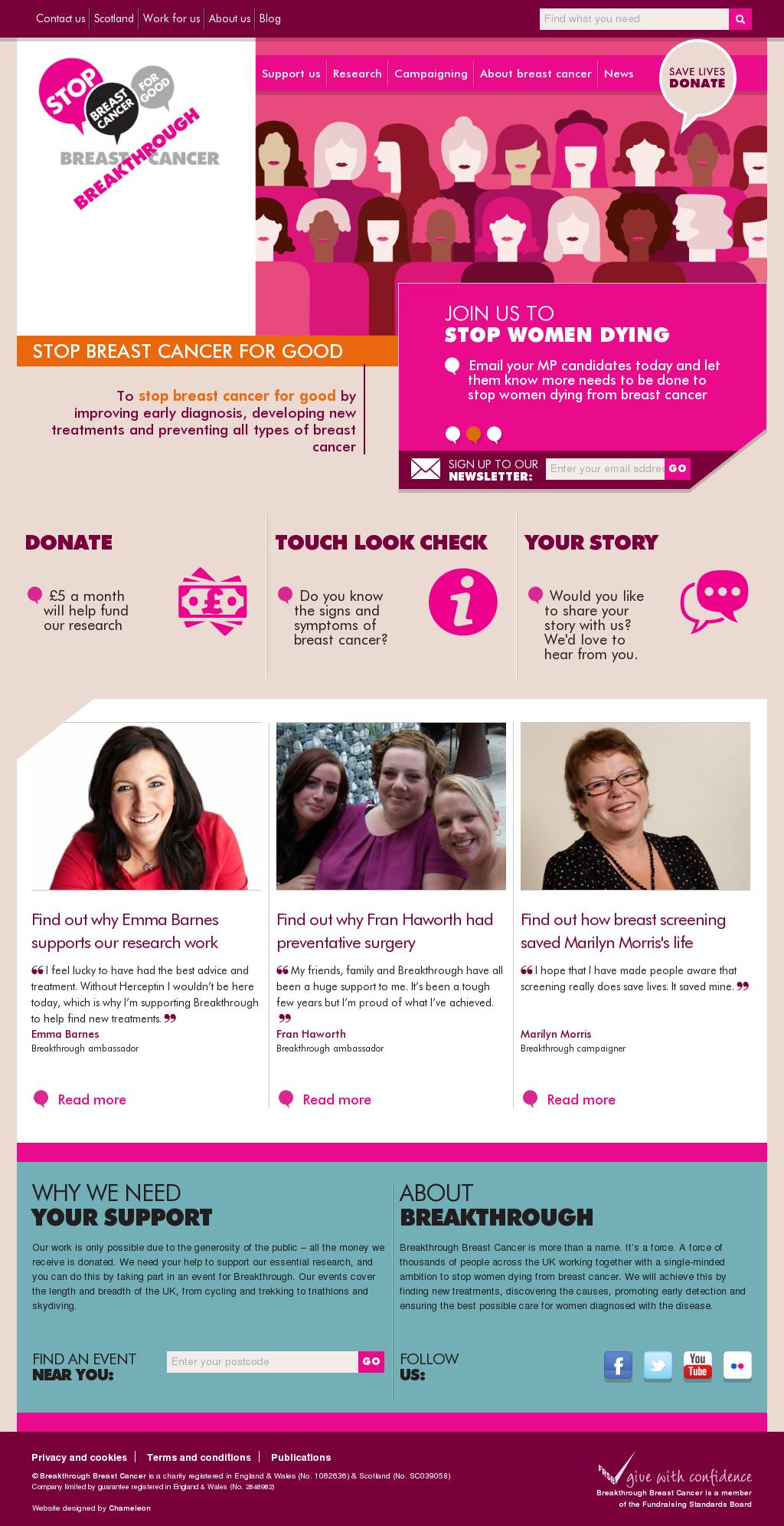 Breakthrough breast cancer scotland