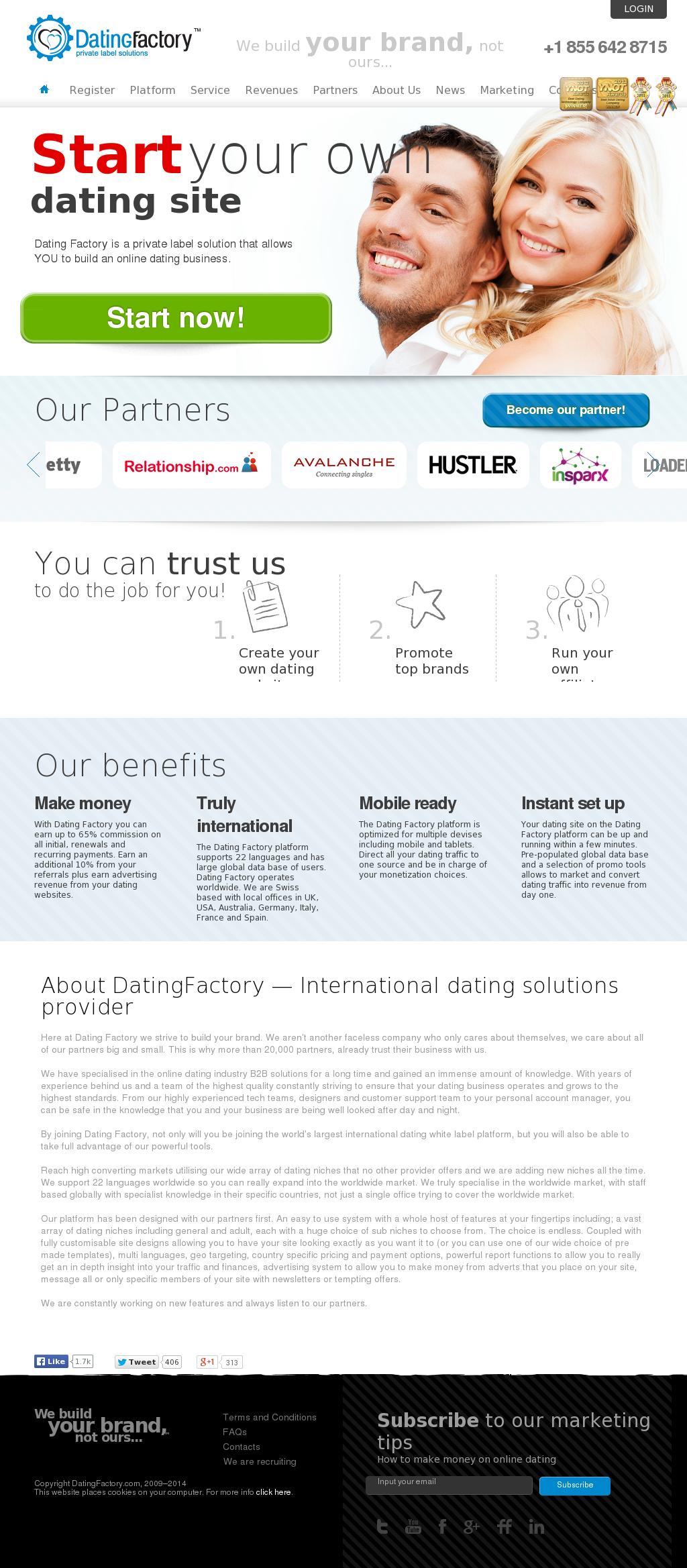 Private label dating provider