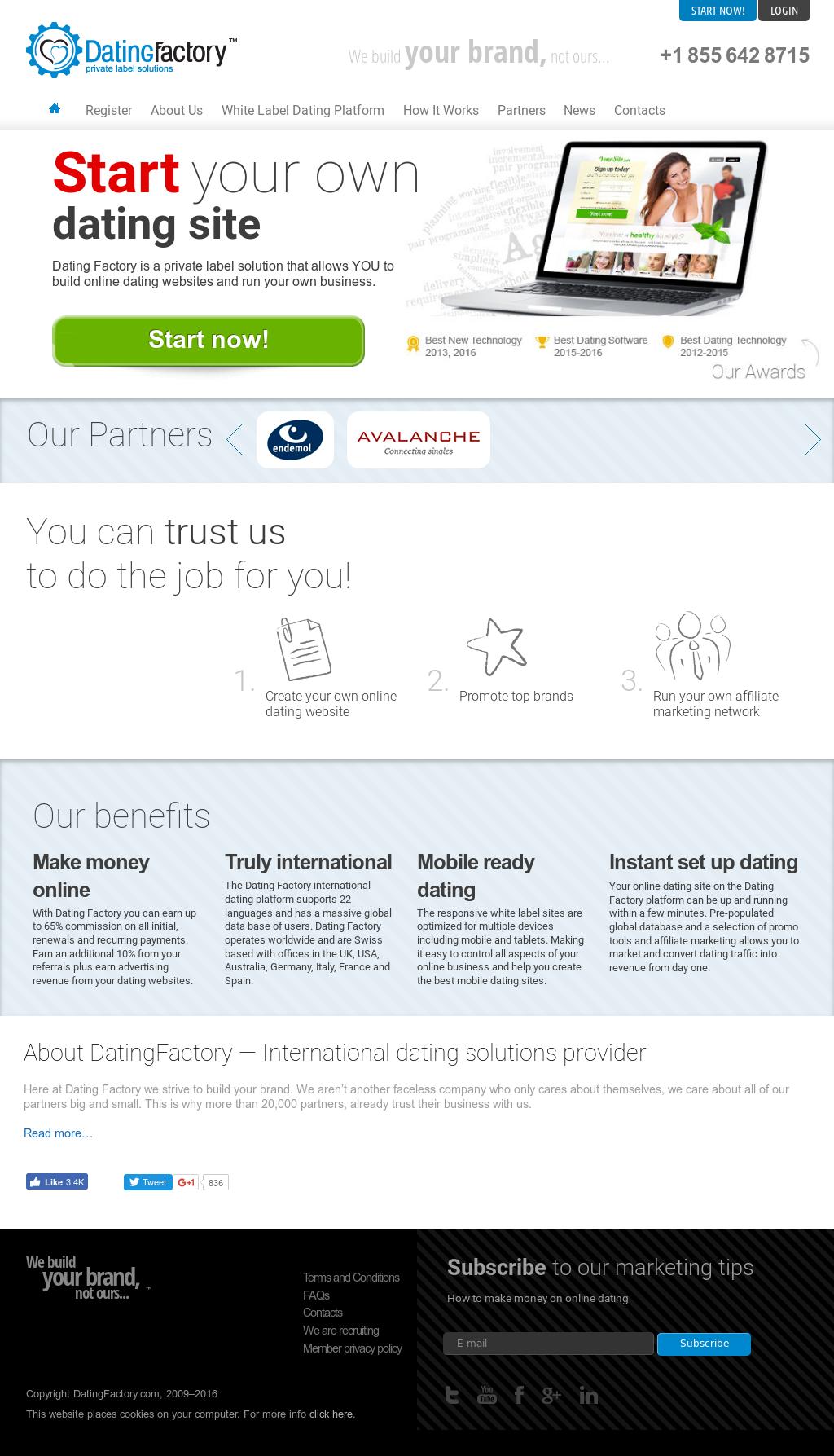 Whitelabeldating provider portal