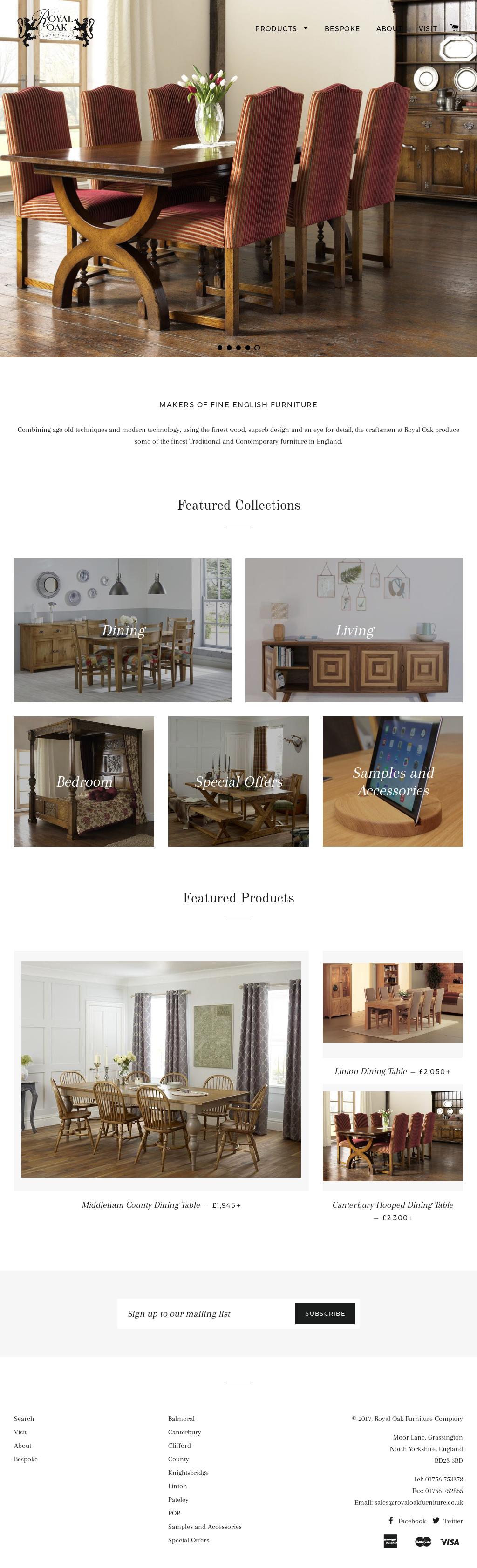 Royal Oak Furniture Website History