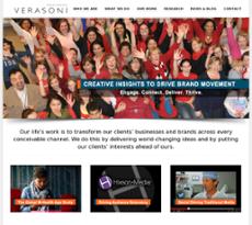 Verasoni website history