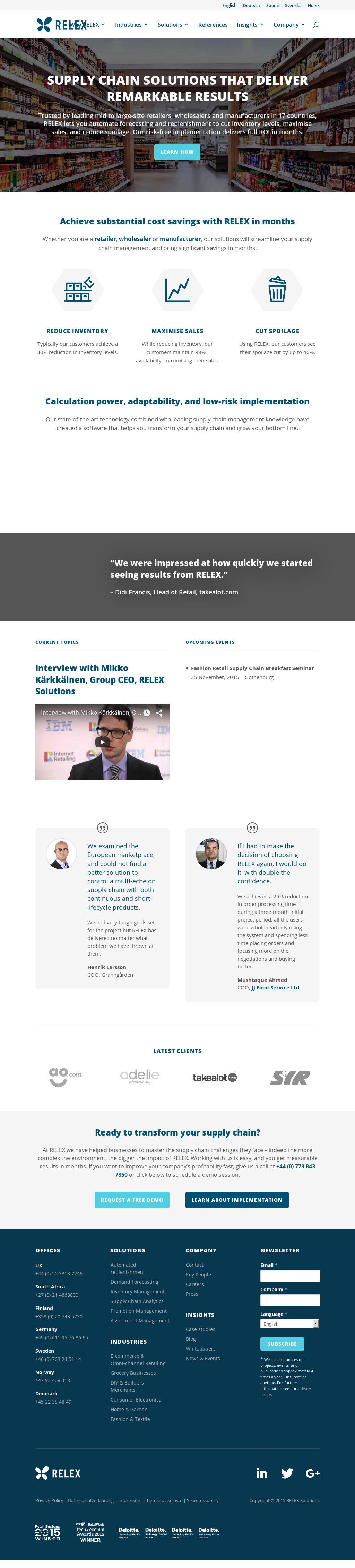 RELEX's Latest News, Blogs, Press Releases & Videos