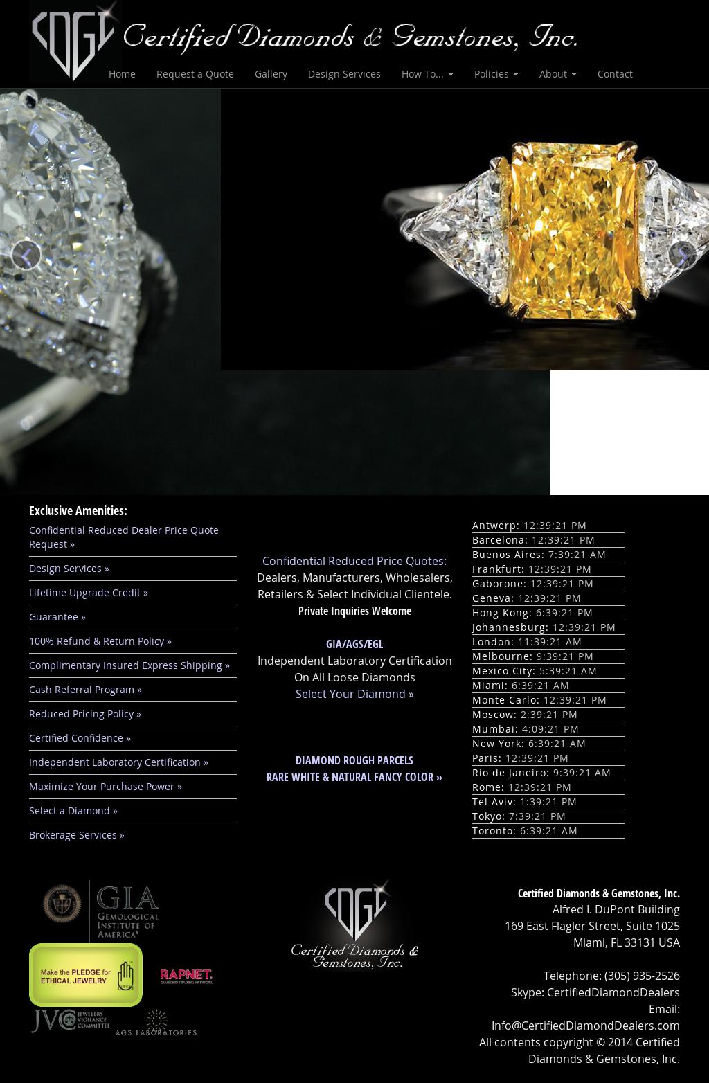 Certified Diamonds & Gemstones Competitors, Revenue and
