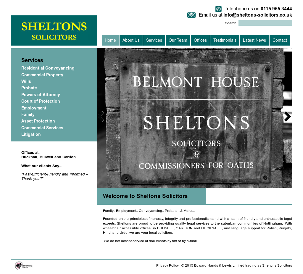 Sheltons Solicitors Competitors, Revenue and Employees