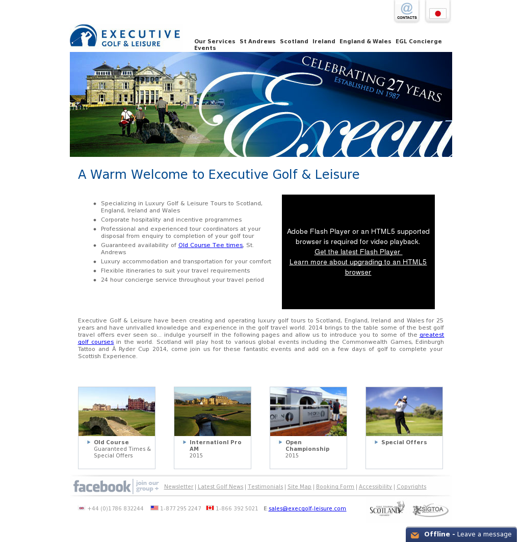 EXECUTIVE GOLF & LEISURE LIMITED Competitors, Revenue and Employees