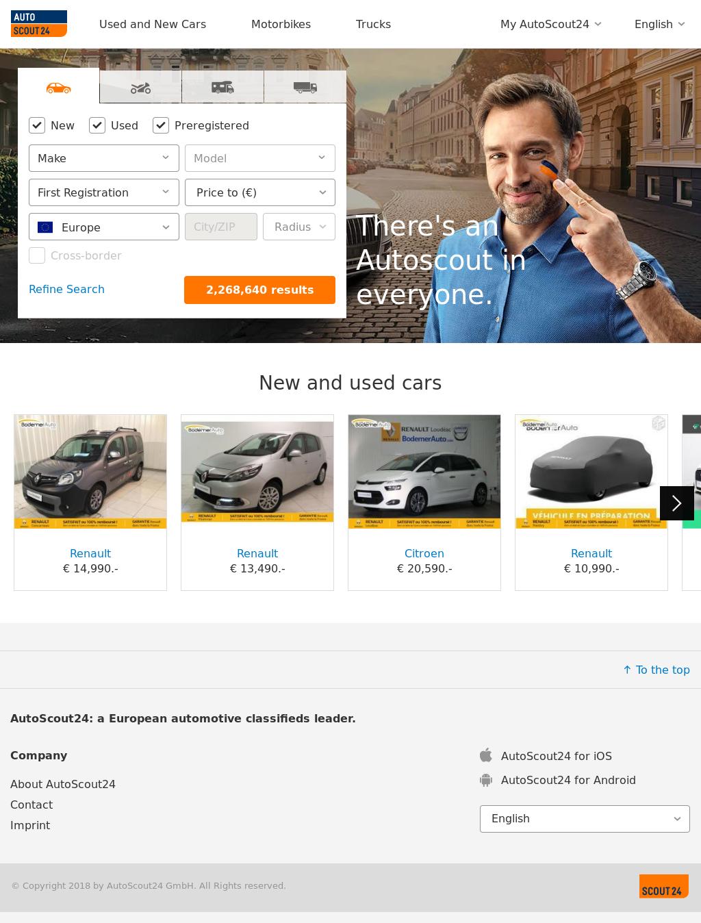 De mobile scout auto AutoScout24 for