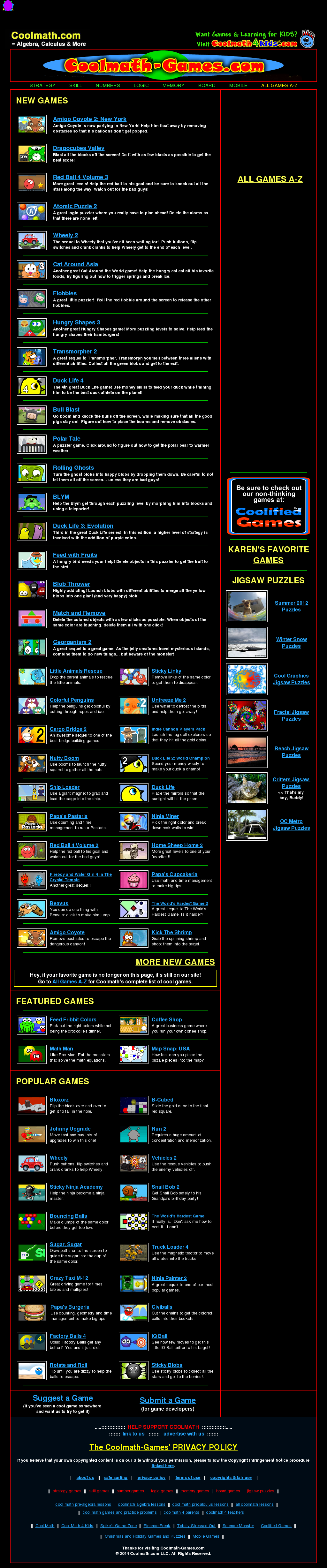 See Screenshot More Website History Owler Has Collected 3 Screenshots Of Coolmath
