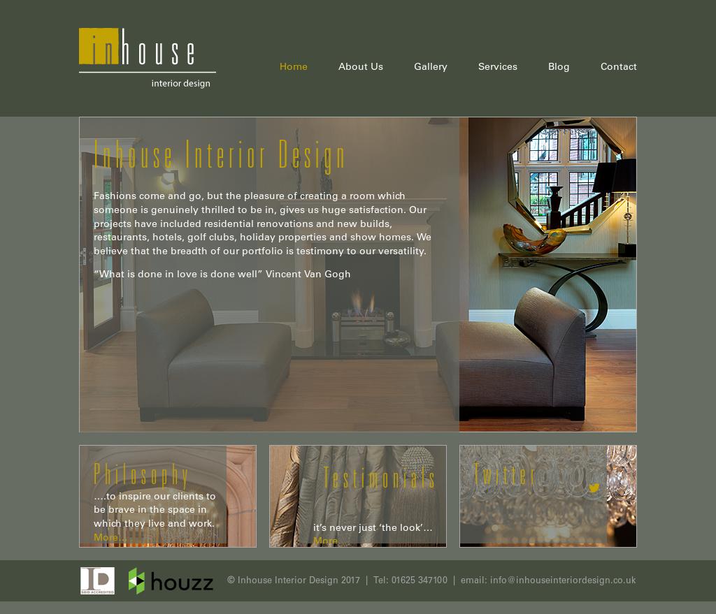 Inhouse Interior Design Website History