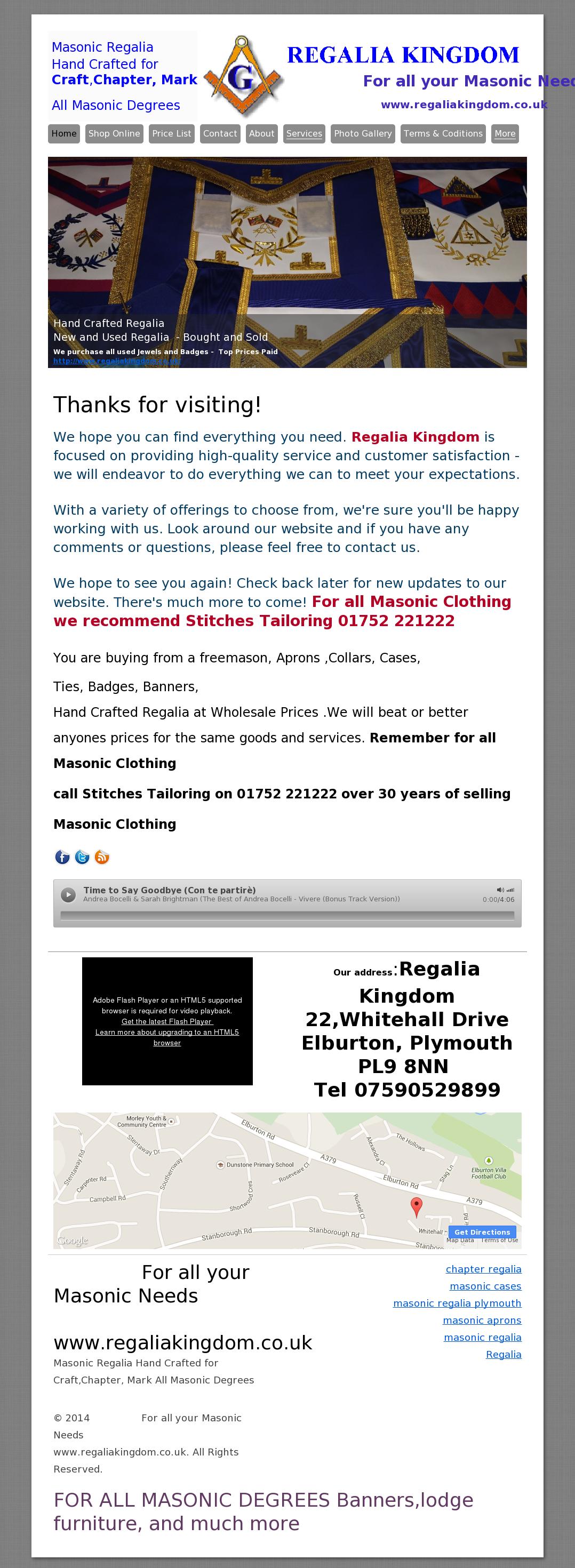 Masonic Regalia & Jewels By Regalia Kingdom Competitors