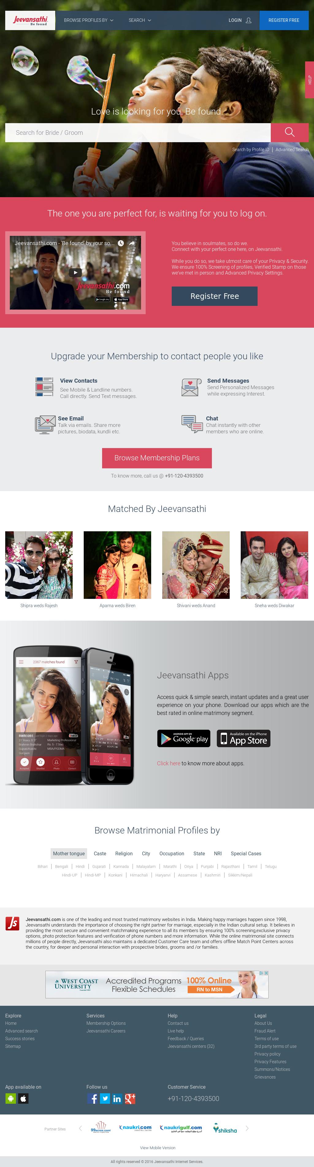 jeevansathi matchmaking