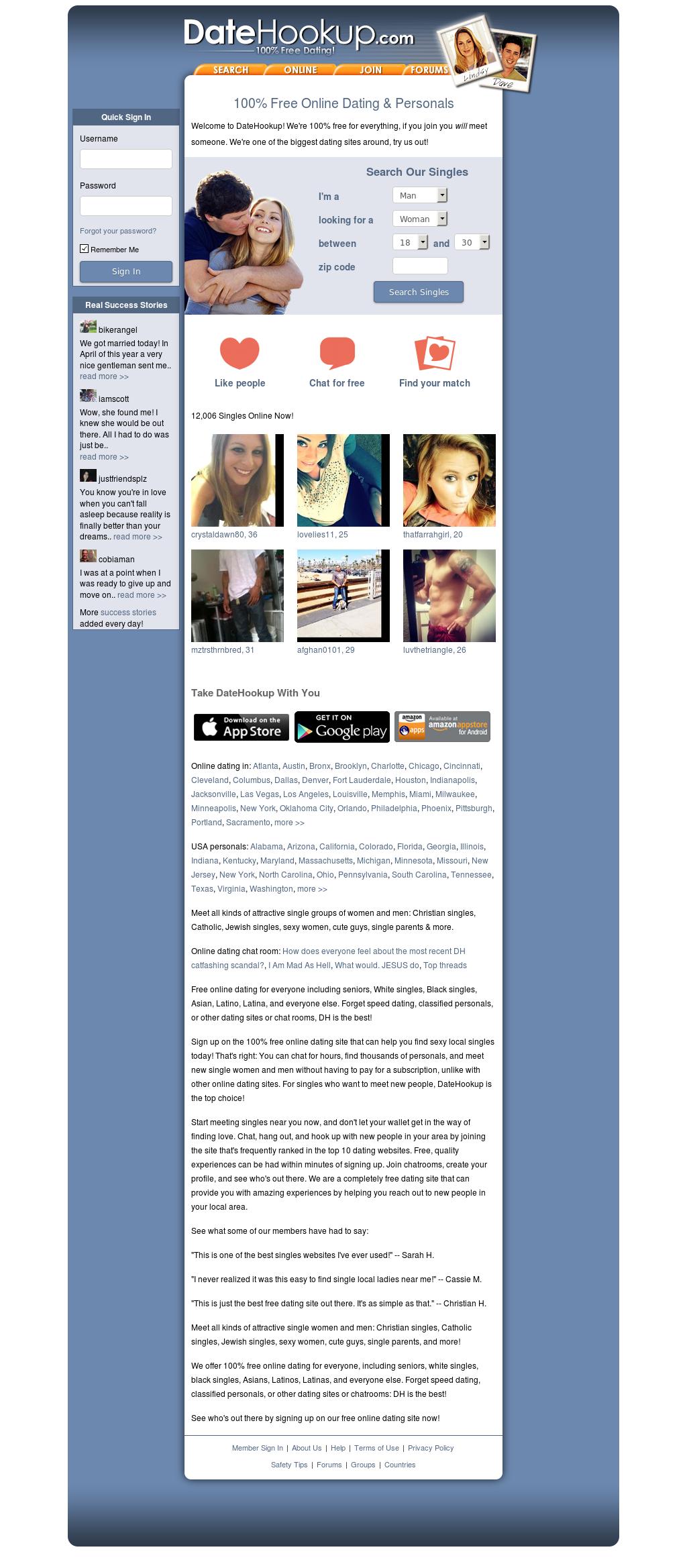 Datehookup online dating site